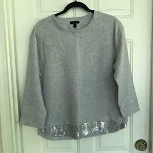NWT JCrew sweater sequin at bottom